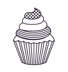 Patriotic cupcake isolated icon design vector
