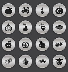 set of 16 editable cookware icons includes vector image vector image