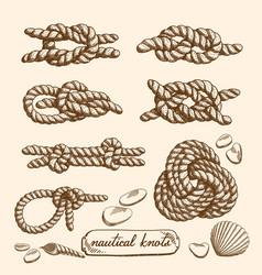 Set of nautical knots vector