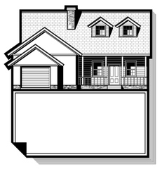 single family house vector image
