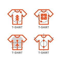 t-shirt logo set Online shop logo Clothing shop vector image