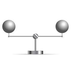 two metallic spheres vector image