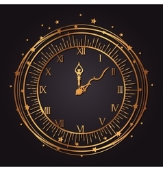 vintage watch golden icon vector image