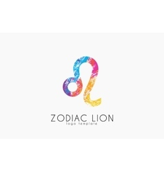 zodiac symbol Leo Lion symbol zodiac Creative vector image vector image