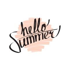 Hello Summer Lettering vector image