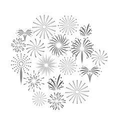 firework celebration explosion icon vector image