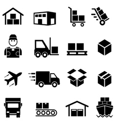 Shipping and delivery icons vector