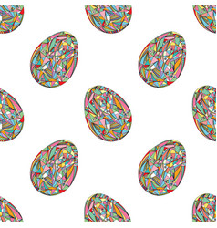 Easter eggs seamless pattern abstract holidays vector