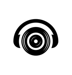 headphone dj sound icon logo vector image