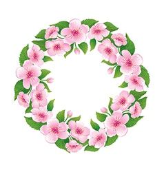 Blooming wreath vector