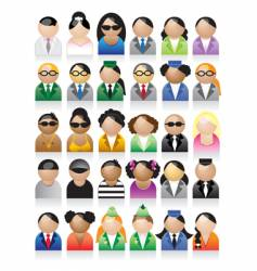 Set of people icons vector