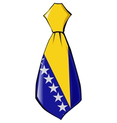 Necktie in national colours of bosnia and herzegov vector