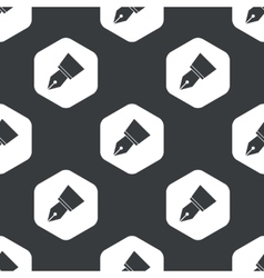 Black hexagon pen nib pattern vector