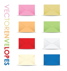 Coloured envelope set vector