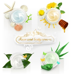 Cream concepts set of vector image
