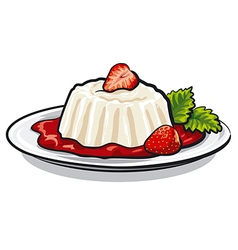 strawberry dessert vector image