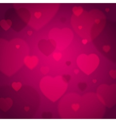 Pink background with valentine hearts vector