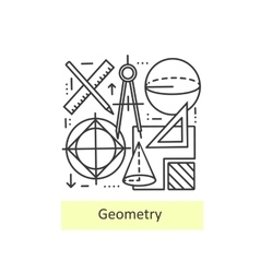 Modern thin line icons of geometry vector