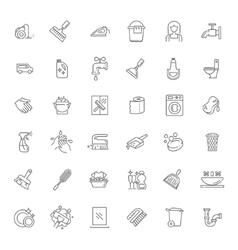 Outline cleaning icon vector