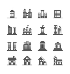 Building house icons vector image