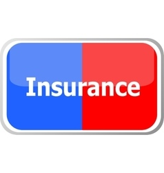 Insurance word on web button icon isolated vector
