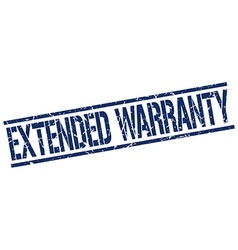 Extended warranty stamp vector