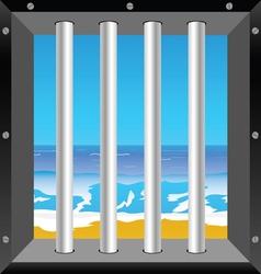 Beach in cell vector