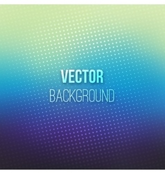 Blue Blurred Background With Halftone Effect vector image vector image