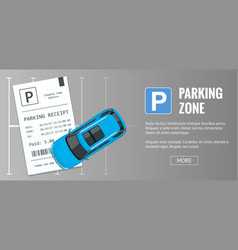 cars in the parking lot and parking tickets vector image