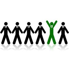 Chosen businessman vector image vector image