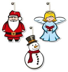 christmas hangtags vector image vector image