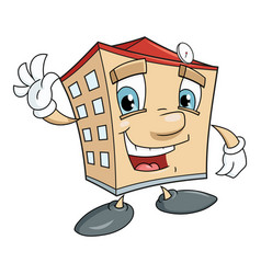 cute smiling house vector image