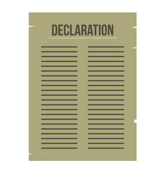 Declaration of independence icon isolated vector