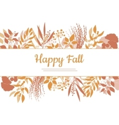 Flat design style happy fall card template vector