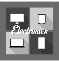 Home electronic appliances image vector