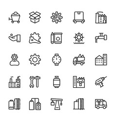 Industrial line icons 6 vector