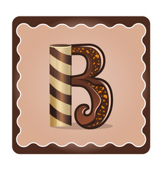 letter b candies vector image