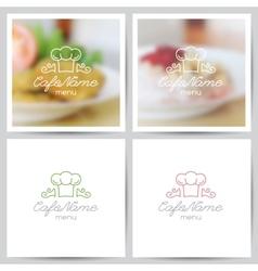 menu logo vector image
