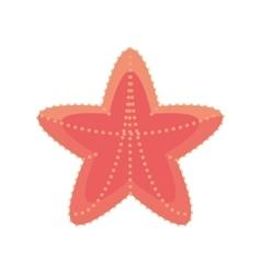 Sea starfish vacation beach sign vector