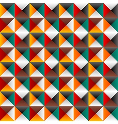 Seamless background with colored triangles vector image vector image