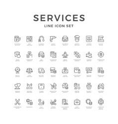 Set line icons of service vector image vector image