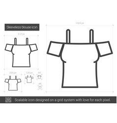 sleeveless blouse line icon vector image vector image