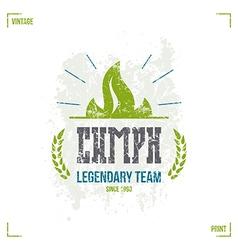 Sport team emblem vector