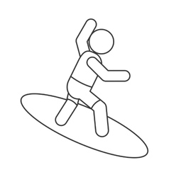 surfing pictogram icon vector image