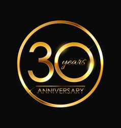Template 30 years anniversary vector