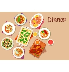 Dinner menu icon for healthy food design vector