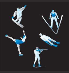 Winter sports vector