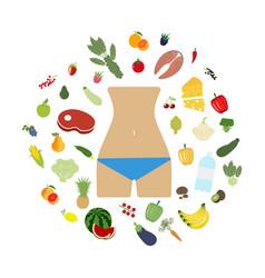 Health food beautiful body vector