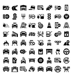 big auto icons set vector image