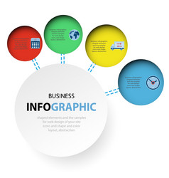 Abstract circle infographics web design marketing vector